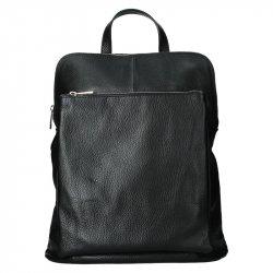 Kožený dámský batoh Unidax Marion - černá