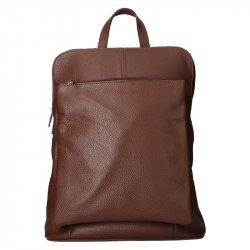Kožený dámský batoh Unidax Marion - tmavě hnědá