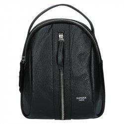 Menší dámský kožený batoh Ninnas Katana - černá