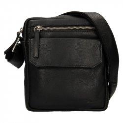 Pánská kožená taška přes rameno Lagen Vilém - červná
